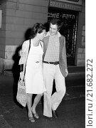 Купить «Italian director Bernardo Bertolucci having a walk with his wife Maria Paola Maino. Italy, May 1973», фото № 21682272, снято 21 октября 2018 г. (c) age Fotostock / Фотобанк Лори