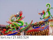 Купить «Декоративные украшения храма, Таиланд», эксклюзивное фото № 21683524, снято 25 октября 2015 г. (c) Хайрятдинов Ринат / Фотобанк Лори