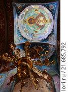 Внутреннее убранство в Ново-Афонском монастыре. Абхазия (2015 год). Стоковое фото, фотограф Ольга Коретникова / Фотобанк Лори