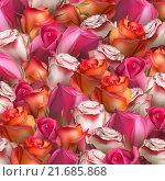 Купить «Разноцветные розы, фон», иллюстрация № 21685868 (c) Владимир / Фотобанк Лори