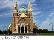 Купить «Базилика Святого Сердца, г. Брюссель», фото № 21689176, снято 23 августа 2015 г. (c) Эдуард Цветков / Фотобанк Лори