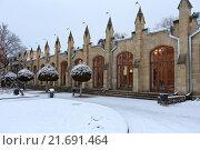 Купить «Нарзанная галерея зимой, Кисловодск», эксклюзивное фото № 21691464, снято 20 января 2016 г. (c) Алексей Гусев / Фотобанк Лори