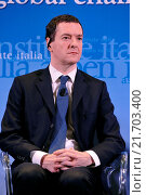 Купить «British Chancellor of the Exchequer George Osborne during the meeting Italy and the UK addressing global challenges in a reformed EU, organizated by Aspen Insititute Italy, Rome, ITALY-03-02-2016.», фото № 21703400, снято 3 февраля 2016 г. (c) age Fotostock / Фотобанк Лори