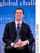 Купить «British Chancellor of the Exchequer George Osborne during the meeting Italy and the UK addressing global challenges in a reformed EU, organizated by Aspen Insititute Italy, Rome, ITALY-03-02-2016.», фото № 21703468, снято 3 февраля 2016 г. (c) age Fotostock / Фотобанк Лори