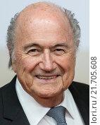 Berlin, Germany, Joseph Blatter in Portrait (2014 год). Редакционное фото, агентство Caro Photoagency / Фотобанк Лори