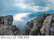 Вид с горы Демерджи (Крым) в облачную погоду. Стоковое фото, фотограф Иван Рочев / Фотобанк Лори