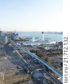 Купить «Вид сверху на побережье Токийского залива», фото № 21712132, снято 3 февраля 2015 г. (c) Ekaterina Andreeva / Фотобанк Лори