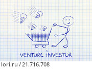 Купить «investor capitalist, selecting ideas and start-ups to invest on», фото № 21716708, снято 11 декабря 2017 г. (c) PantherMedia / Фотобанк Лори