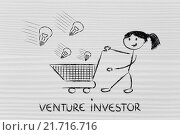 Купить «investor capitalist, selecting ideas and start-ups to invest on», фото № 21716716, снято 11 декабря 2017 г. (c) PantherMedia / Фотобанк Лори