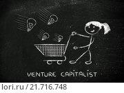 Купить «investor capitalist, selecting ideas and start-ups to invest on», фото № 21716748, снято 19 июня 2018 г. (c) PantherMedia / Фотобанк Лори