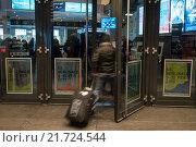 Symbolfoto Berlinale, the entrance to the CinemaxX Berlin Potsdamer Platz. (2015 год). Редакционное фото, агентство Caro Photoagency / Фотобанк Лори