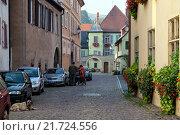 Tuerkheim, France, road to nursing home (2010 год). Редакционное фото, агентство Caro Photoagency / Фотобанк Лори