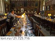 Oxford, United Kingdom, The Great Hall of Christ Church College (2012 год). Редакционное фото, агентство Caro Photoagency / Фотобанк Лори