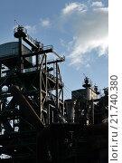 Купить «Duisburg, Germany, the former Thyssen blast furnace Eisenhuette Meiderich», фото № 21740380, снято 15 октября 2009 г. (c) Caro Photoagency / Фотобанк Лори