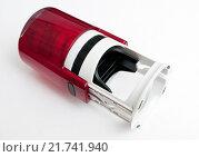 Купить «Красная автоматическая печать на белом фоне», эксклюзивное фото № 21741940, снято 7 февраля 2016 г. (c) Игорь Низов / Фотобанк Лори