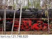 Купить «Berlin, Germany, a steam locomotive in the nature park Schoeneberger Südgelände», фото № 21748820, снято 18 ноября 2012 г. (c) Caro Photoagency / Фотобанк Лори