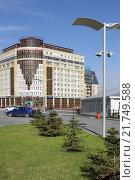 Город Омск, Больничный переулок, административное здание (2012 год). Редакционное фото, фотограф Виктор Топорков / Фотобанк Лори