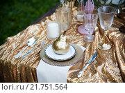 Сервировка свадебного стола. Стоковое фото, фотограф Евгения Воробьева / Фотобанк Лори