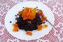 Черный рис декорированный тыквенным конфитюром, фото № 21751580, снято 19 января 2016 г. (c) Зацепилова Наталья / Фотобанк Лори