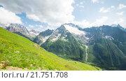Купить «Лето, горы, Кавказ, Домбай», видеоролик № 21751708, снято 17 июля 2015 г. (c) Анатолий Типляшин / Фотобанк Лори