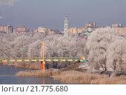 Купить «Зимний Тамбов. Первомайский мост», фото № 21775680, снято 19 октября 2018 г. (c) Карелин Д.А. / Фотобанк Лори