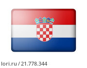 Купить «Флаг Хорватии», иллюстрация № 21778344 (c) Александр Макаров / Фотобанк Лори