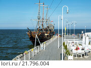 Sopot, Poland, pirate ship at the Sopot pier (2014 год). Редакционное фото, агентство Caro Photoagency / Фотобанк Лори