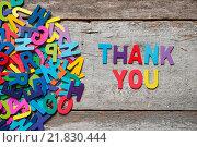 Купить «THANK YOU», фото № 21830444, снято 23 июля 2019 г. (c) easy Fotostock / Фотобанк Лори