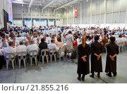 Купить «Waitresses. Dining room for 1,500 people. Ficoba, Basque Coast International Fair. Irun. Gipuzkoa. Basque Country. Spain», фото № 21855216, снято 14 июня 2015 г. (c) age Fotostock / Фотобанк Лори