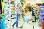 Купить «woman with cart shopping», фото № 21893344, снято 18 июня 2012 г. (c) Дмитрий Калиновский / Фотобанк Лори