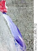 Купить «Фиолетовый мазок краски на старом фоне», фото № 21895712, снято 12 ноября 2014 г. (c) Elizaveta Kharicheva / Фотобанк Лори