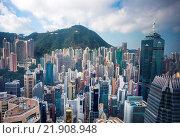 Купить «Hong Kong City, Central District.», фото № 21908948, снято 2 декабря 2015 г. (c) age Fotostock / Фотобанк Лори
