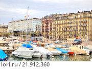 Купить «Женева. Берег озера», фото № 21912360, снято 6 мая 2014 г. (c) Parmenov Pavel / Фотобанк Лори