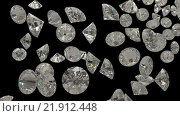 Купить «Бриллианты на черном фоне», фото № 21912448, снято 19 февраля 2019 г. (c) Арсений Герасименко / Фотобанк Лори