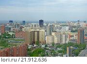 Новосибирск вид с высоты, с улицы Военной (2012 год). Редакционное фото, фотограф Антон Ильяшенко / Фотобанк Лори
