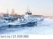 Купить «Корабли на стоянке, зима», фото № 21939980, снято 9 января 2016 г. (c) Михаил Кочиев / Фотобанк Лори