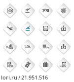Купить «Airport icons set», иллюстрация № 21951516 (c) PantherMedia / Фотобанк Лори