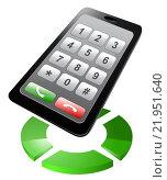Купить «Smartphone dialer vector illustration», иллюстрация № 21951640 (c) PantherMedia / Фотобанк Лори