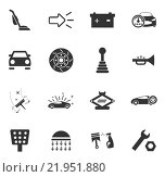 Купить «Car shop icons set», иллюстрация № 21951880 (c) PantherMedia / Фотобанк Лори