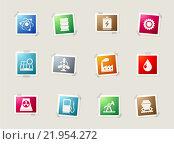 Купить «Energy and Industry icons set», иллюстрация № 21954272 (c) PantherMedia / Фотобанк Лори