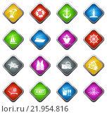 Купить «Cruise icons set», иллюстрация № 21954816 (c) PantherMedia / Фотобанк Лори