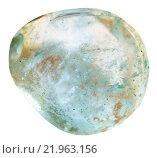 Купить «tubmled aquamarine (blue beryl) mineral gem», фото № 21963156, снято 16 декабря 2017 г. (c) PantherMedia / Фотобанк Лори
