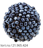 Купить «ball from many sewn black glass beads close up», фото № 21965424, снято 19 января 2019 г. (c) PantherMedia / Фотобанк Лори