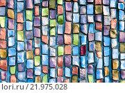 Купить «Разноцветная мозаика в качестве фона», фото № 21975028, снято 21 октября 2018 г. (c) FotograFF / Фотобанк Лори