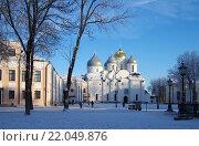 Собор Святой Софии - главная достопримечательность Великого Новгорода (2016 год). Стоковое фото, фотограф Natalya Sidorova / Фотобанк Лори