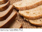 Куски нарезанного хлеба. Стоковое фото, фотограф Александр Дубровский / Фотобанк Лори