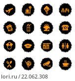 Купить «Airport icons set», иллюстрация № 22062308 (c) PantherMedia / Фотобанк Лори