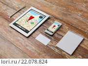 Купить «close up of notebook, tablet pc and smartphone», фото № 22078824, снято 10 октября 2014 г. (c) Syda Productions / Фотобанк Лори