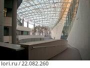Купить «Современное здание из стекла и бетона», эксклюзивное фото № 22082260, снято 27 февраля 2016 г. (c) Svet / Фотобанк Лори