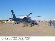 Купить «Международный авиационно-космический салон МАКС-2015. Буксировка вертолета AgustaWestland AW119 Ke Koala», фото № 22082728, снято 24 августа 2015 г. (c) Игорь Долгов / Фотобанк Лори